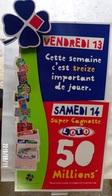 FDJ F.D.J. FRANÇAISE DES JEUX PUBLICITÉ PRÉSENTOIR DE CAISSE GRATTAGES VENDREDI 13 VENDU EN L'ETAT  SITE Serbon63 - Publicités