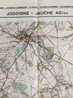 TOPOGRAFISCHE KAART / STAFKAART / CARTE D'ETAT MAJOR JODOIGNE - JAUCHE 40/3-4 - 1/25.000 M834 - 1984 - Cartes Topographiques