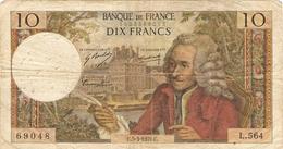FRANCE  --  10 FRANCS VOLTAIRE 1970 - 10 F 1963-1973 ''Voltaire''