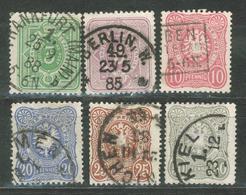 """Duitse Rijk / Deutsches Reich DR 39 - 44 Used O (1875) """"Pfennig"""" - Deutschland"""