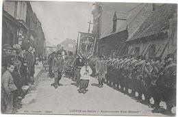 62 LIEVIN En Grève - Enterrement D'un Mineur - Procession - Lievin
