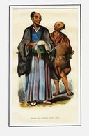 Lithographie De PANNEMAKER - JAPONAIS DE CONDITION ET SON VALET  - Aquarellée à La Main Fin 19éme - 2 - Lithographies