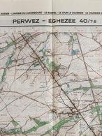 TOPOGRAFISCHE KAART / STAFKAART / CARTE D'ETAT MAJOR PERWEZ - ÉGHEZÉE 40/7-8 - 1/25.000 M834 - 1984 - Topographische Karten