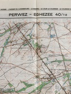 TOPOGRAFISCHE KAART / STAFKAART / CARTE D'ETAT MAJOR PERWEZ - ÉGHEZÉE 40/7-8 - 1/25.000 M834 - 1984 - Cartes Topographiques