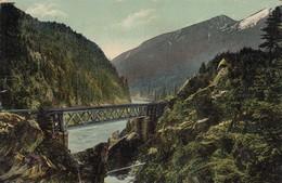 Skuzzy River Bridge, FRASER RIVER, British Columbia, Canada, PU-1910 - British Columbia