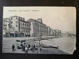 CARTOLINA ANTICA-SALERNO-CORSO GARIBALDI-PREFETTURA-'900 - Postales