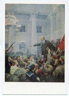 PAINTING USSR 1969 POSTCARD V.I. LENIN PROCLAIMS THE SOVIET AUTHORITY SEROV - Rusland