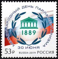 Russia 2019 One International Day Of Parliamentarism UNO Flag Organization Architecture Celebrations Stamp MNH - UNO
