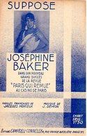 PARTITION JOSEPHINE BAKER - CASINO DE PARIS - TITRE : SUPPOSE - 1931 - EXC ETAT - - Other