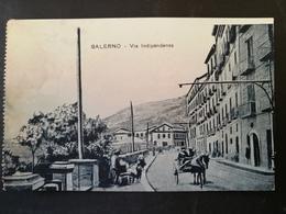 CARTOLINA ANTICA-SALERNO-VIA INDIPENDENZA-'900 - Postales