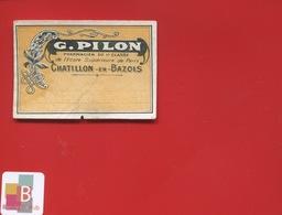 CHATILLON EN BAZOIS PILON  Pharmacien  ETIQUETTE ANCIENNE PHARMACIE DU COURS  CIRCA 1900 - Sonstige