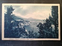 CARTOLINA ANTICA-SALERNO-VISIONE PANORAMICA DELLA COSTIERA-'900 - Cartoline