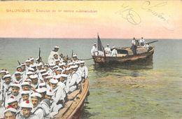 Militaires Armée D'Orient, Marins, Salonique - Exercice De Tir Contre Submersibles 1917 - Carte IPACT Colorisée - Manoeuvres