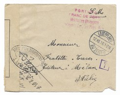 DA PORT S.M. A MILANO 12.12.1816. - 1900-44 Vittorio Emanuele III