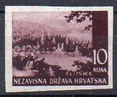 Kroatien  1941  Farbprobe  MiNr. 60  **/ Mnh  ;  Plitvitzer Seen - Kroatien