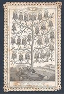 IMAGE PIEUSE St François D'Assise ( Et Les Saints Et Bienheureux De Son Tiers Ordre ) - édit. Alcan - Santini