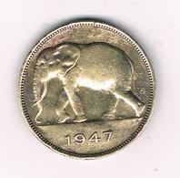 5 FRANC 1947 BELGISCH CONGO /5846/ - Congo (Belge) & Ruanda-Urundi