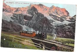 SUISSE -  CPA  COLORISEE - Die Jundfrau Mit Wengeralp Bahn - ROY2/ARD - - BE Berne