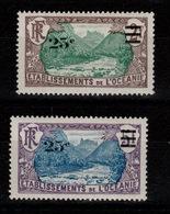 Oceanie - YV 61 & 62 N* - Oceania (1892-1958)