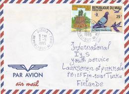 Mali 1995 Dioila Pigeon Dove Monument 200f Cover - Mali (1959-...)