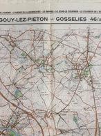 TOPOGRAFISCHE KAART / STAFKAART / CARTE D'ETAT MAJOR GOUY-LEZ-PIÉTON - GOSSELIES 46/3-4 - 1/25.000 M834 - 1982 - Carte Topografiche