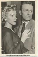 POSTAL A586: Marilyn Monroe Y Richard Widmark - Ohne Zuordnung