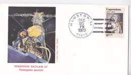 MISSIONE SKYLAB III PASSEGGIATA SPAZIALE1° GIORNO EMISSIONE 25 DEC 1973 AUTENTICA 100% - Posta