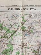 TOPOGRAFISCHE KAART / STAFKAART / CARTE D'ETAT MAJOR FLEURUS - SPY 47/1-2 - 1/25.000 M834 - 1982 - Carte Topografiche
