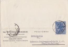 Pologne, Carte-lettre Pré-imprimée (Grabski) Obl Varsovie Le 20 III 31 Sur TP N° 352 Pour La Suisse - 1919-1939 Republic