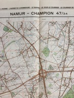 TOPOGRAFISCHE KAART / STAFKAART / CARTE D'ETAT MAJOR NAMUR - CHAMPION 47/3-4 - 1/25.000 M834 - 1980 - Cartes Topographiques