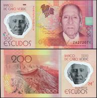 Cape Verde 200 Escudos. 05.06.2014 Polymer Unc Replacement. Banknote Cat# P.71aR - Cape Verde