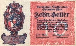 Liechtenstein 10 Heller, P-1 (1920) - AUNC - Liechtenstein