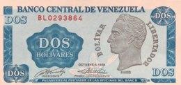 Venezuela 2 Bolivares, P-69 (1989) - UNC - Venezuela