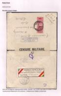 BRIEFOMSLAG VAN DE LEGERPOSTERIJ ZONDER NUMMER-03.I.1917 NAAR HULST -DUBBELCENSUUR BELGIE EN NEDERLAND - Autres Lettres