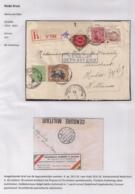 AANGETEKENDE BRIEFOMSLAG LEGERPOSTERIJ 4-18.V.1916 NAAR HULST 29.V.16-TRICOLORE FRANKERING-DUBBELCENSUUR - Autres Lettres