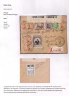 AANGETEKENDE BRIEFOMSLAG LEGERPOSTERIJ 6-13.VII.16 NAAR HULST 30.VIII.16-TRICOLORE FRANKERING-DUBBELCENSUUR - Autres Lettres