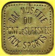 Jeton De Bal - AUX SPORTS à SURESNES - Monétaires / De Nécessité