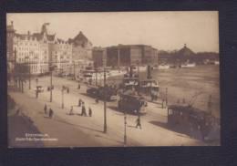"Carte à Vue ""Stockholm - Utsikt Fran Operaterrassen"" Obl Stockholm 06.02.1920 ->Olten - Tram- - Suède"