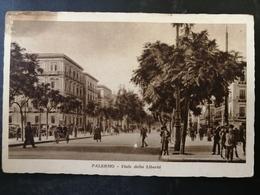 CARTOLINA ANTICA-PALERMO-VIALE DELLA LIBERTA' -'900 - Postales