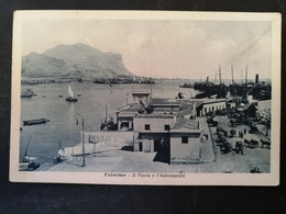 CARTOLINA ANTICA-PALERMO-IL PORTO E L'ANTEMURALE' -'900 - Cartoline