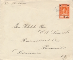 Curacao - 1930 - 6 Op 7,5 Cent Wilhelmina Met SS Simon Bolivar, Envelop G27 Van KB Curacao Naar KB Paramaribo / Suriname - Niederländische Antillen, Curaçao, Aruba