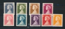 MONACO, 1957 Gracia Set MNH (neuf Sans Charniere), Yv478-486, Cat €11 - Monaco