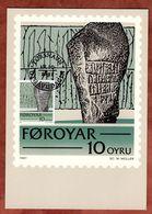 Maxikarte, Runenstein, 1981 (77401) - Féroé (Iles)