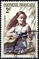 French Polynesia 1958 - Mi 4 - YT 4 ( Guitar Player ) - Polynésie Française