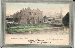 CPA - LODELINSART (Belgique) - Aspect De La Verrerie Morel En 1900 - Carte Colorisée - Belgium