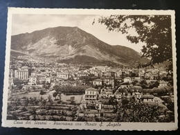 CARTOLINA ANTICA-CAVA DEI TIRRENI-SALERNO-PANORAMA CON MONTE S. ANGELO-'900 - Cartoline