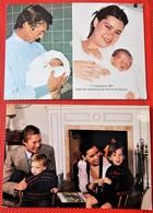 LUXEMBOURG - Lot De 2 Cartes : Grand Duc Henri  Et Grande Duchesse Maria Teresa Et Prince Guillaume - Familles Royales