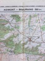 TOPOGRAFISCHE KAART / STAFKAART / CARTE D'ETAT MAJOR AGIMONT - BEAURAING 58/3-4 - 1/25.000 M834 - 1986 - Cartes Topographiques