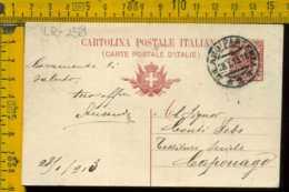 Regno Cartolina Intero Postale Milano Caponago - 1900-44 Vittorio Emanuele III