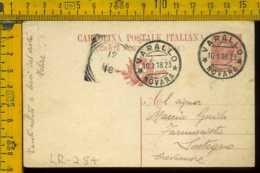 Regno Cartolina Intero Postale Varallo Farmacista Di Sostegno Crevacuore Biella - 1900-44 Vittorio Emanuele III